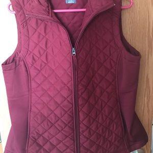 Ladies Quilted Vest- EUC- worn once